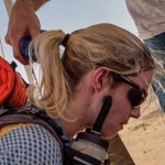 Michelle Hincks in the gruelling Desert Ultra.