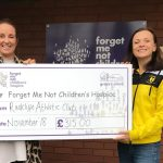 Fiona Lynch presenting the cheque to Grace's Place.