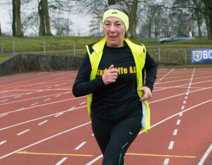Inspirational Radcliffe AC Coach Eileen Royle.