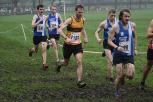 Neal Emmerson in cross country action at Todmorden.