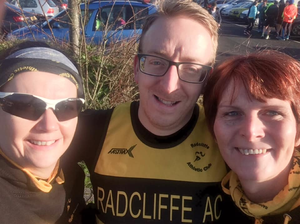 Taking on the Hunters 10k (from left) Caroline Malone, Peter Hunter and Jenny Yates.