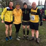 Cross country action for (from left) Neal Emmerson, Karen Doherty, Chris Whittaker and Nick Barnes.