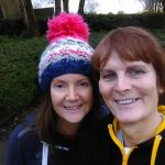 Jenny Yates (right) celebrated her birthday at the New Year's Day Oldham parkrun with Caroline Malone.