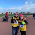 Oh we do like to be beside the seaside...Bev Quinton (left) and Tracy Wroe at St Annes 10 Mile.