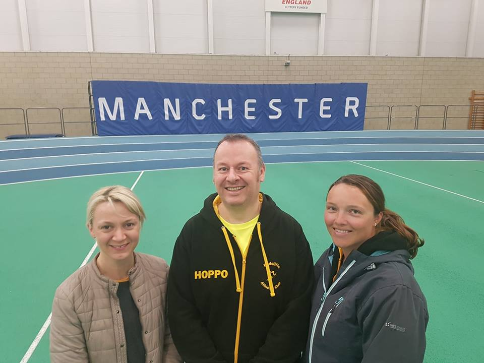 Newly-qualified coaches Amanda Callan (left), Ian Hopkinson and Amanda Darbyshire