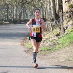 Hannah Price on her way to victory in the Terry Nortley 10 Mile Multi-Terrain race.