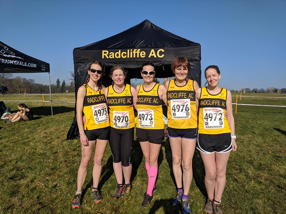 The women's team at the national cross-country championships.