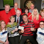Raising money for St Ann's Hospice with former darts world champion Dennis Priestley. (picture Richard Rollon)