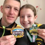 Family fortunes. Chris and Olivia Whittaker with their medals.