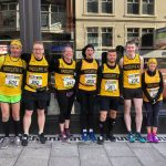 Radcliffe AC members at Wigan Half marathon.