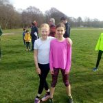 Cross country stars Megan Peterkin (left) and Niamh Warr.