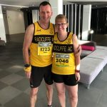 Viva Espana. Dave and Sarah Rushton at the Benidorm Half Marathon.