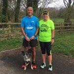 Mauro Rotondi and Christine Berry at Cuerden Valley parkrun