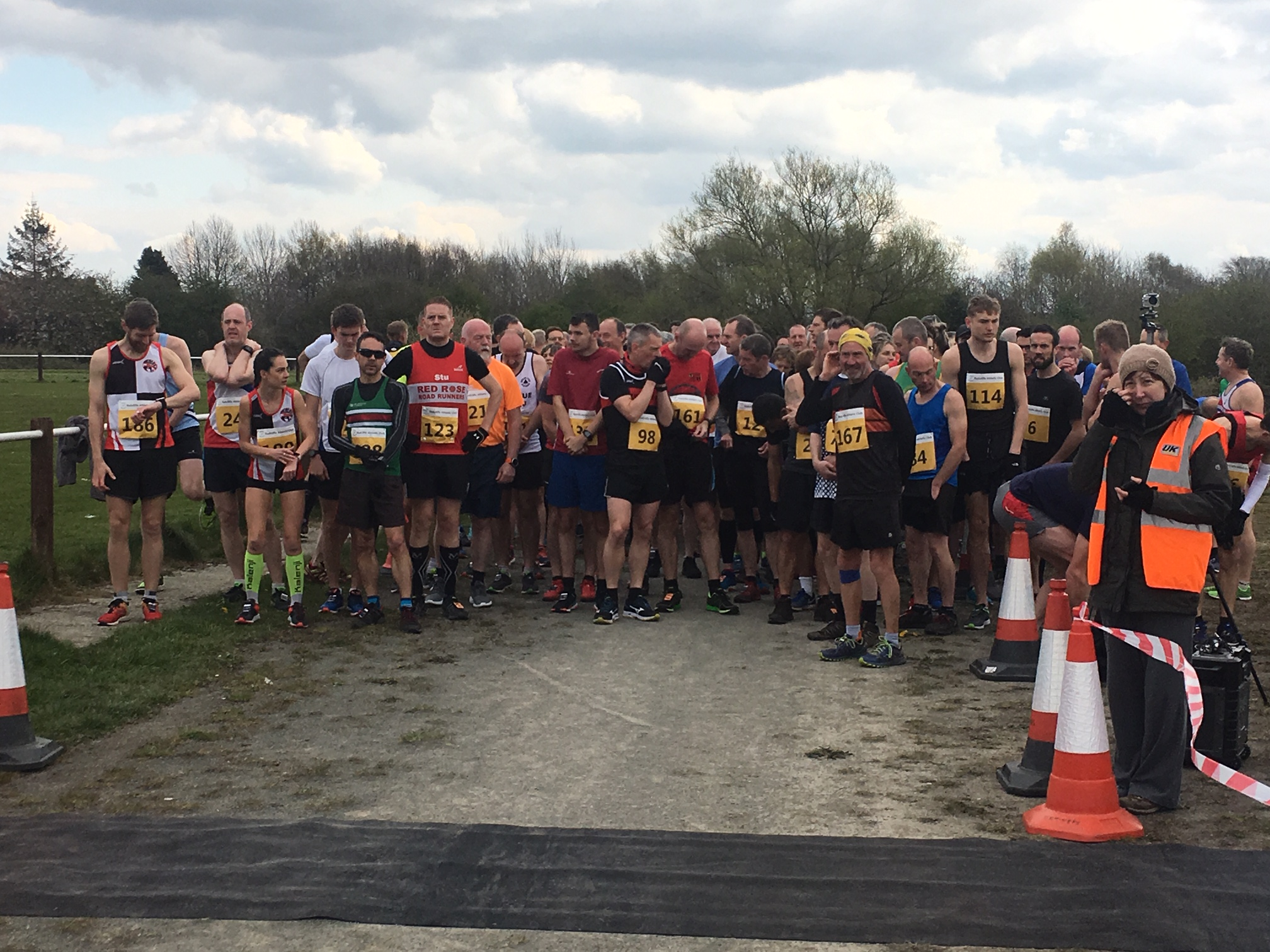 The start of the Radcliffe 10K Trail Race.